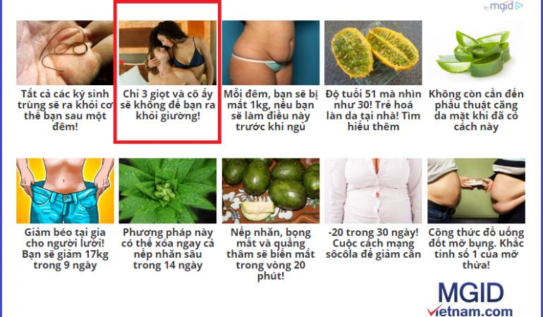 cách chặn một số quảng cáo nhất định của mgid