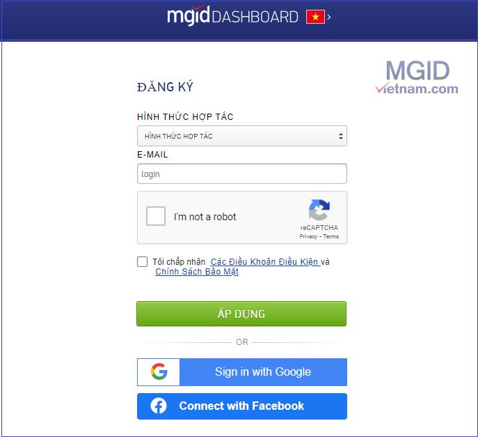 hướng dẫn đăng ký quảng cáo mgid 01