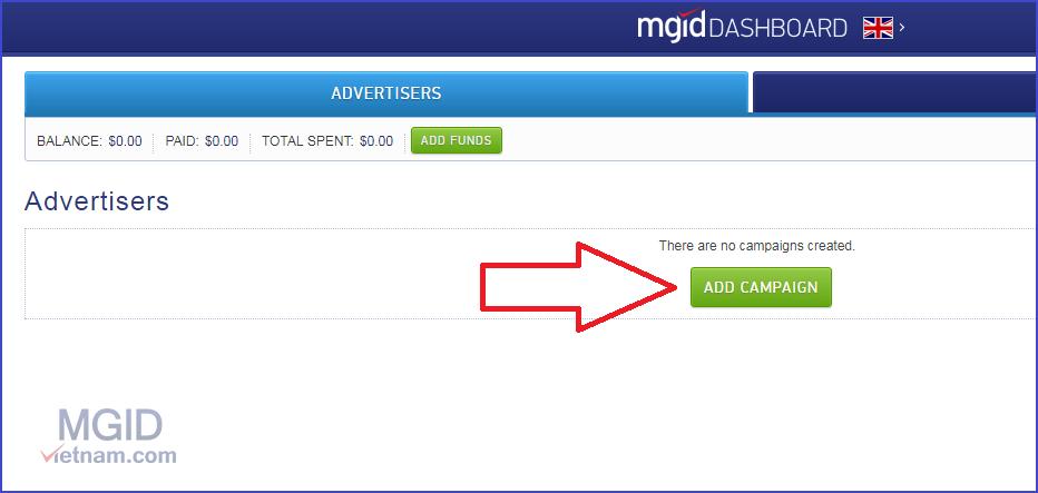 Cách tạo chiến dịch quảng cáo trên MGID